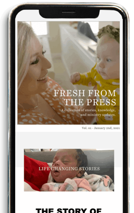 example of newsletter on your phone