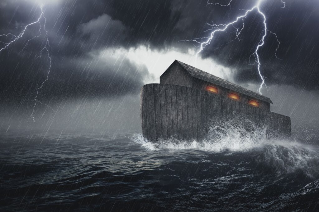God kills with a global flood