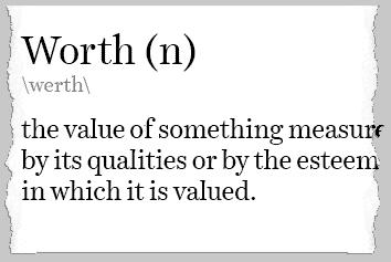 definition of worth